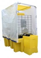 Cubeto de retención para 1 GRG con cubierta