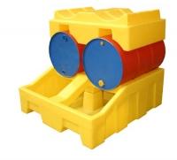 Unidad de almacenamiento de bidones con cubeto